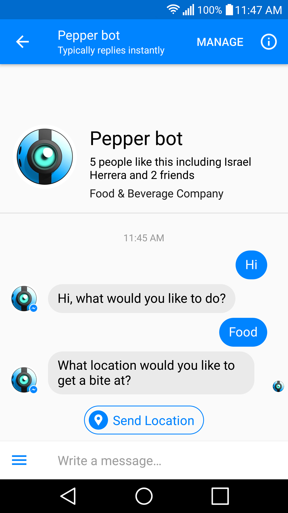 Pepper Bot